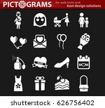mother day vector icons for... | Shutterstock .eps vector #626756402