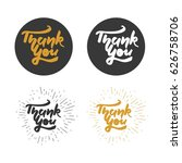 thank you card. modern... | Shutterstock .eps vector #626758706