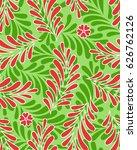 seamless motif pattern vector | Shutterstock .eps vector #626762126