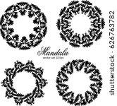 mandala set. vintage... | Shutterstock .eps vector #626763782