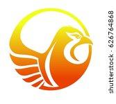 phoenix logo. burning bird... | Shutterstock .eps vector #626764868