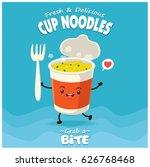 vintage cup noodles poster... | Shutterstock .eps vector #626768468