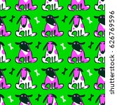 seamless vector pattern with... | Shutterstock .eps vector #626769596