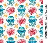 vector nautical pattern.... | Shutterstock .eps vector #626769632