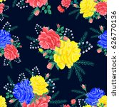 bright seamless pattern with... | Shutterstock .eps vector #626770136