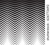 halftone zig zag pattern... | Shutterstock .eps vector #626772692