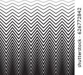 halftone zig zag pattern... | Shutterstock .eps vector #626772842