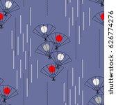 seamless pattern from japanese... | Shutterstock .eps vector #626774276