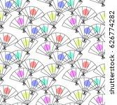seamless pattern from japanese... | Shutterstock .eps vector #626774282