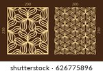 laser cutting set. woodcut... | Shutterstock .eps vector #626775896