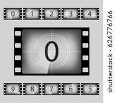 movie countdown numbers set.... | Shutterstock .eps vector #626776766
