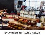breakfast buffet in the... | Shutterstock . vector #626778626