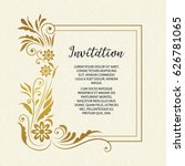 vector set decorative card.... | Shutterstock .eps vector #626781065