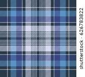 blue check fabric texture... | Shutterstock .eps vector #626783822