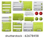 green website form set with... | Shutterstock .eps vector #62678458