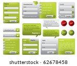 green website form set with... | Shutterstock .eps vector #62678458