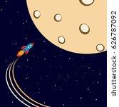 flight to the moon | Shutterstock .eps vector #626787092