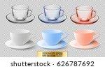 A Set Of Glass And Ceramic Tea...
