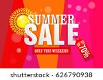 summer sale typography paper... | Shutterstock .eps vector #626790938