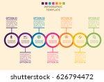 business timeline progress... | Shutterstock .eps vector #626794472