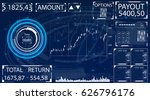 futuristic user interface for... | Shutterstock .eps vector #626796176