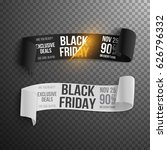 illustration of realistic black ... | Shutterstock . vector #626796332