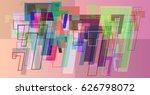 number 7 vector pattern   Shutterstock .eps vector #626798072