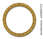 round frame gold color with... | Shutterstock .eps vector #626803712