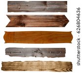 various wooden boards old... | Shutterstock . vector #626804636