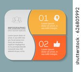 vector infographic template ... | Shutterstock .eps vector #626805992