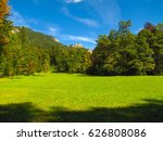 green meadow on a background of ... | Shutterstock . vector #626808086