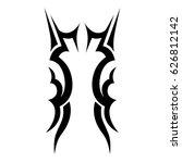 tattoo sketch tribal vector...   Shutterstock .eps vector #626812142