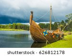 longship   a viking longboat... | Shutterstock . vector #626812178