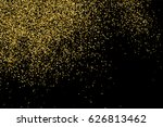 gold glitter texture isolated... | Shutterstock .eps vector #626813462