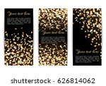 set of vertical banners with... | Shutterstock .eps vector #626814062
