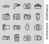 photographic icons set. set of... | Shutterstock .eps vector #626816612