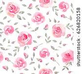 romantic pink floral seamless... | Shutterstock . vector #626820158