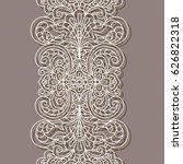 vintage lace border pattern ... | Shutterstock .eps vector #626822318