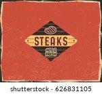 steak house typography poster...   Shutterstock .eps vector #626831105