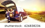 summer car trip  | Shutterstock . vector #626838236