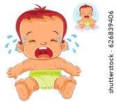 vector illustration little baby ... | Shutterstock .eps vector #626839406