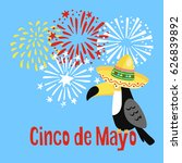 mexican cinco de mayo greeting... | Shutterstock .eps vector #626839892