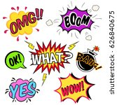 set of comic speech bubbles and ... | Shutterstock .eps vector #626840675