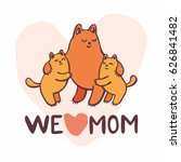 mother s day greeting card in... | Shutterstock .eps vector #626841482