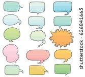 vector set of speech bubbles | Shutterstock .eps vector #626841665