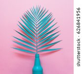 turquoise palm leaf sticking...   Shutterstock . vector #626841956