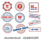 set of various 60th anniversary ... | Shutterstock .eps vector #626843285