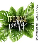 summer tropical leaf background ... | Shutterstock .eps vector #626847722