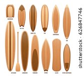 wooden surfboards isolated on...   Shutterstock .eps vector #626847746