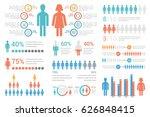 human infographics for reports... | Shutterstock .eps vector #626848415